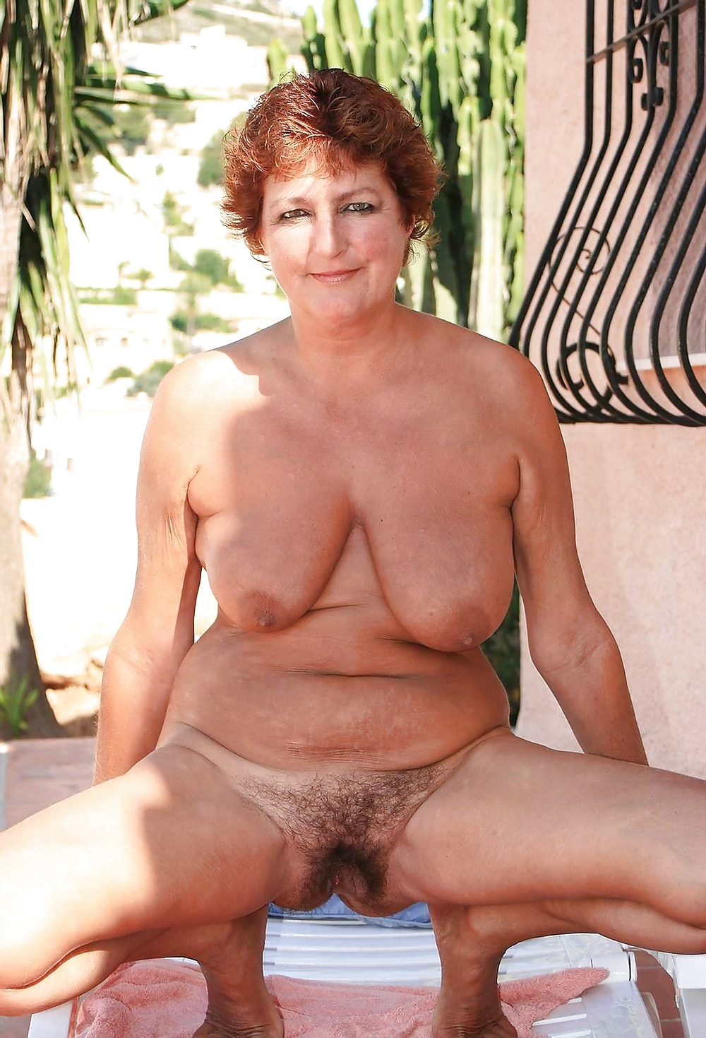 Very big boobs with hairy pussys are